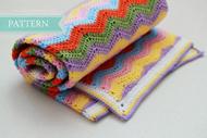 Simple Ripple Baby Blanket