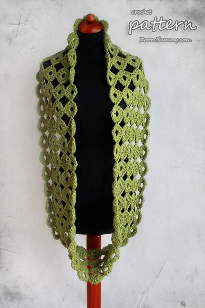 crochet chunky joy-joy scarf