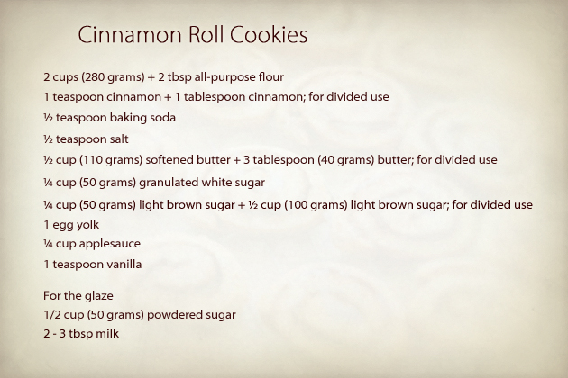 cinnamon roll cookies recipe
