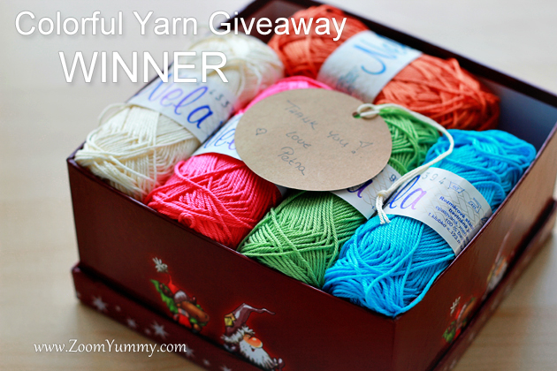 colorful yarn giveaway - winner