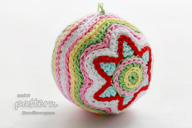 New Crochet Pattern Colorful Christmas Star Ball Crochet Zoom