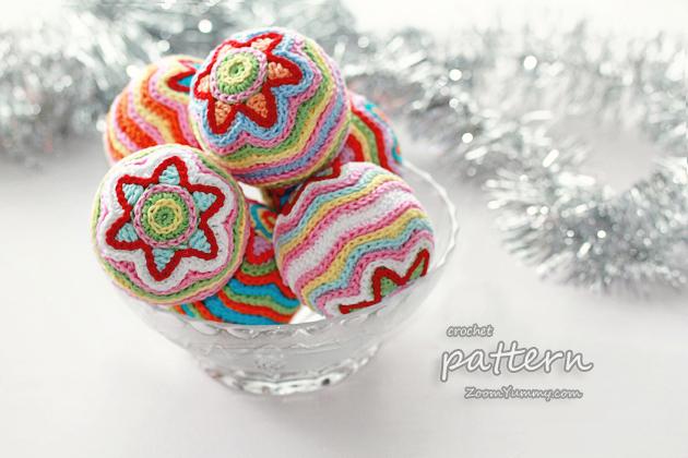 Crochet PDF Pattern - Star Christmas Ball