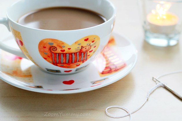 cup with cat and hearts