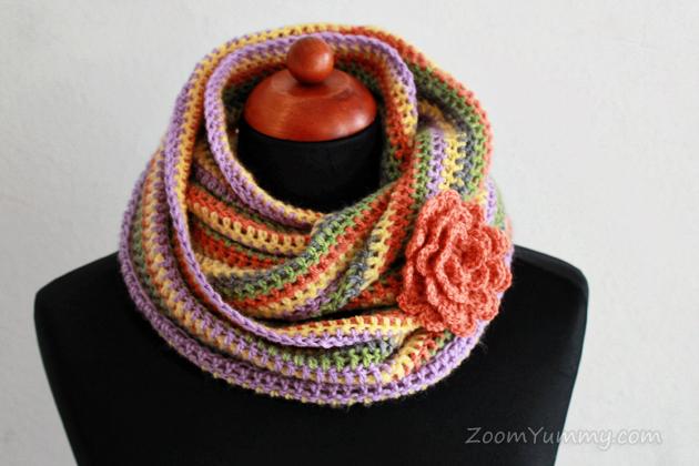 Easy Crochet Infinity Scarf Free Pattern Crochet Zoom Yummy