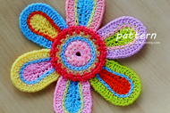 Colorful Crochet Flower