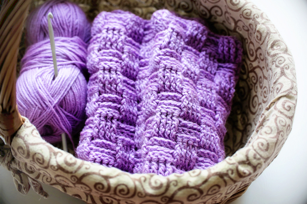 crochet basket weave