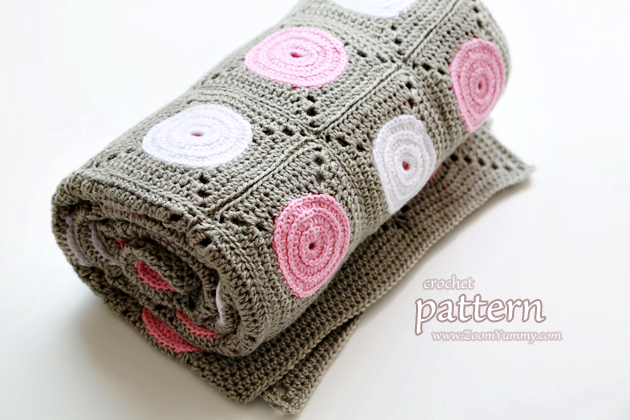 crochet pattern - polka dot blanket