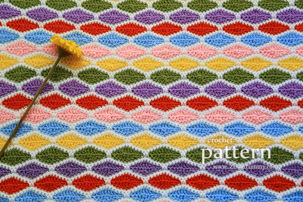 crochet pattern - a million diamonds blanket