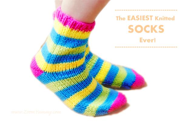 Knitting Socks Tutorial : The easiest knitted socks ever diy « zoom yummy u crochet