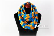 Crochet Chevron Infinity Scarf