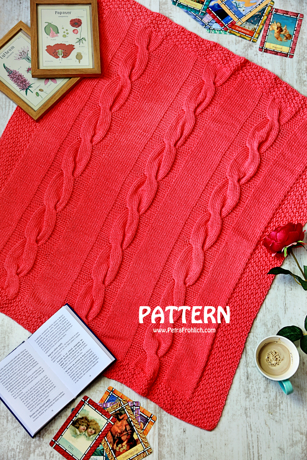 knit cable blanket pattern