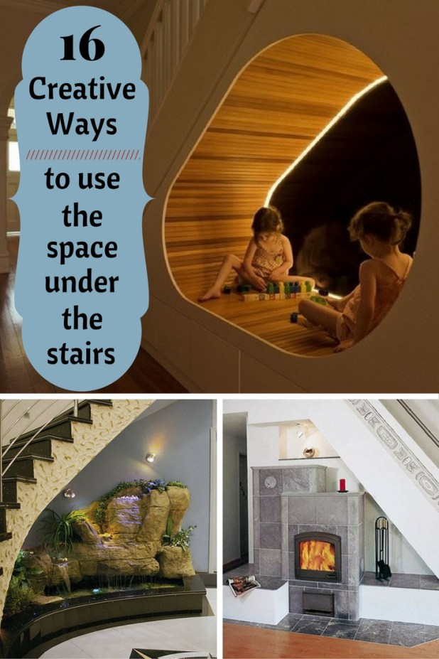16 creative ways to use the space under the stairs