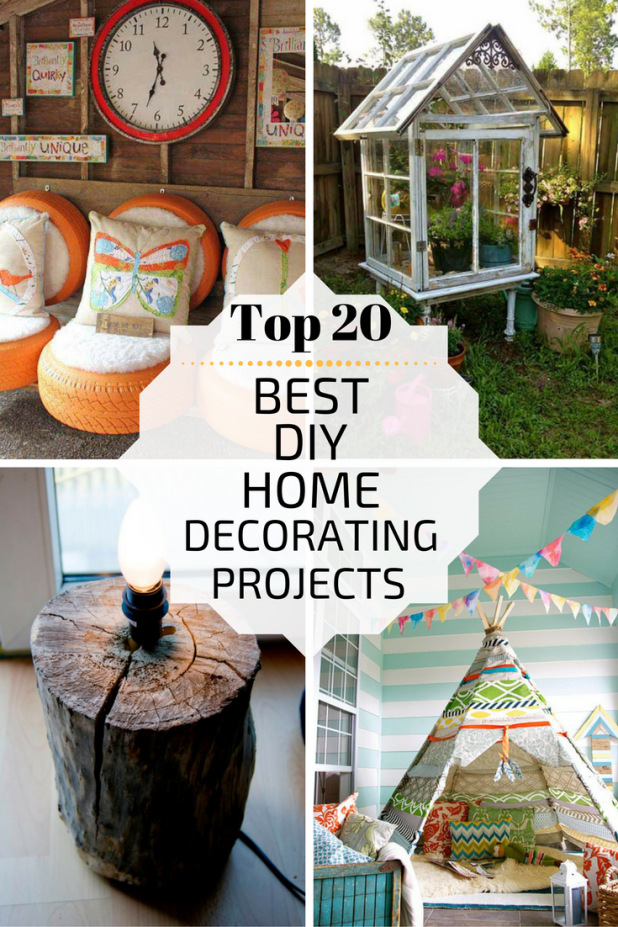Top 20 best diy home decorating projects for Best housing projects
