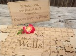 100 Piece Wedding Heart Puzzle For Wedding GuestBook