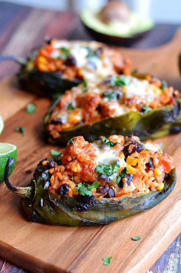 Chorizo And Cheese-Stuffed Grilled Bell Peppers Recipe