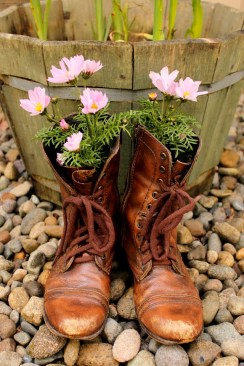 Old Boots Flower Planter