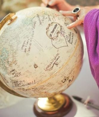Personalized Wedding Globe
