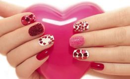 Pinky Valentine's Day Nail Design