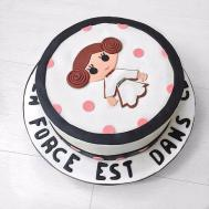 Polkadot Princess Leia Birthday Cake