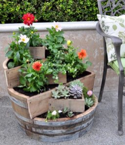 Recycled Barrel Planter