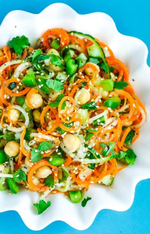 Sweet and Sour Thai Cucumber and Carrot Noodles