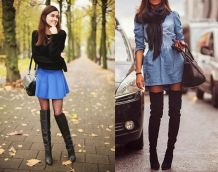 Thigh-High Boots Over Tights