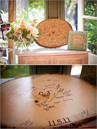 Tree Stump GuestBook