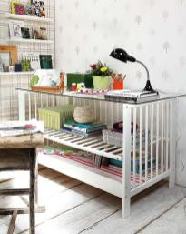Turn An Old Crib Into A Fully Functional Desk
