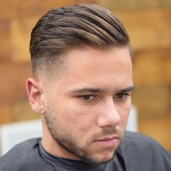 Undercut with Textured Brush Back and Beard