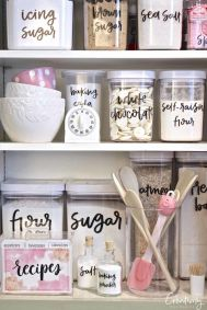 Use Printable Kitchen Labels