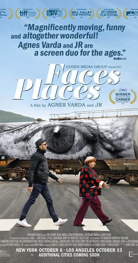 """Faces Places"" (Agnes Varda) For Best Documentary Feature"