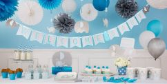 Blue Baby Elephant Baby Shower