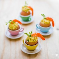 Curried Egg And Prawn Cocktails