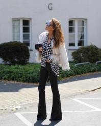 Dotted Black Shirt + Black Elephant Pants