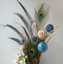 Feather & Flower Vase