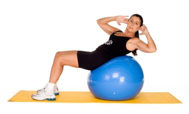 Oblique Ab Crunches With A Stability Ball