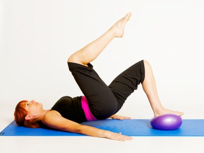 Shoulder Bridge with A Stability Ball