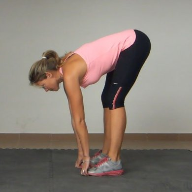 Standing Squat to Hamstring Stretch Exercise