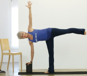 Supported Half Moon Pose