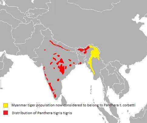 Bengal Tiger Habitat Map