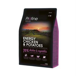 Корм для взрослых собак с повышенной физической нагрузкой с курицей и картофелем Profine Energy Chicken and Potatoes