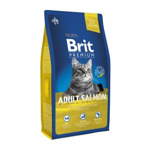 Корм для взрослых кошек с лососем Brit Premium Cat Adult Salmon