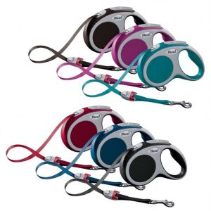 Рулетка Flexi VARIO S 5 м./15 кг. (лента) антрацит, бирюзовая, красная, розовая, синяя