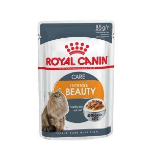 Влажный корм для кошек (здоровая кожа, красивая шерсть) Royal Canin INTENSE BEAUTY в соусе