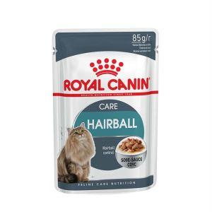 Влажный корм для кошек (снижает образование волосяных комочков) Royal Canin HAIRBALL CARE в соусе