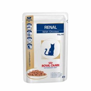 Влажный корм для кошек с хронической почечной недостаточностью Royal Canin RENAL FELINE CHICKEN
