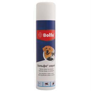 Спрей от блох и клещей у кошек и собак Bayer Bolfo 250 мл.