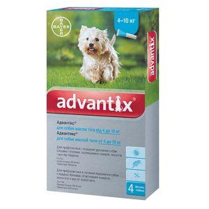 Адвантикс капли от блох и клещей для собак (от 4 до 10 кг) Bayer Advantix