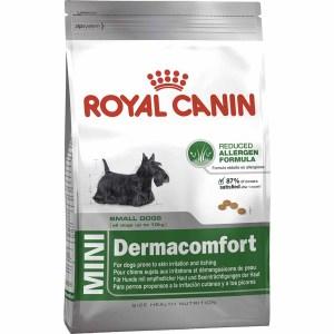 Сухой корм для собак мелких пород с раздраженной и зудящей кожей Royal Canin MINI DERMACOMFORT