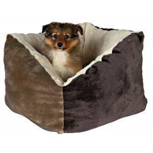 "Лежак для собак ""Gordie"" Trixie коричневый/бежевый плюш 42х42 см."